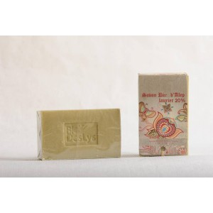 Savon Bar d'Alep-laurier 20%